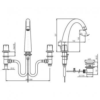 Смеситель для раковины Jacob Delafon - Elevation (E18871-CP)