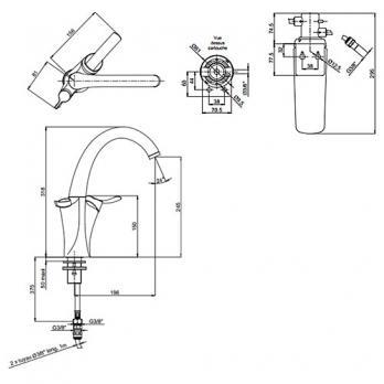 Смеситель для раковины Jacob Delafon - Carafe (E18865-VS)