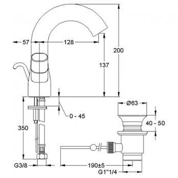Смеситель для раковины Jacob Delafon - Talan (E10085RU-CP)