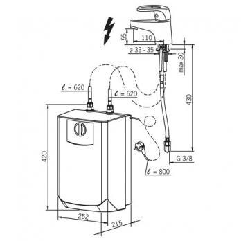 Смеситель для раковины с водонагревателем Oras - Safira (1003F)
