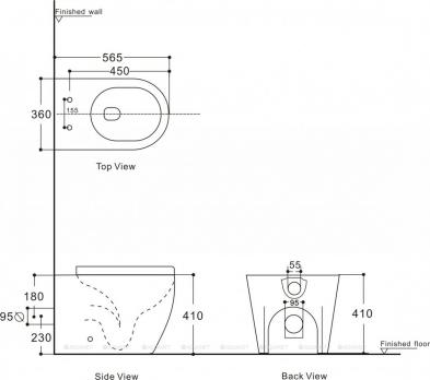 Унитаз приставной Aquanet Rimless Cetus 2.0 F LX-1902  микролифт