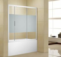 Шторка для ванны Aquanet Practic AE10-B-150H150U-CP, прозрачное стекло