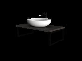 Столешница GRUNGE LOFT 90 Бетон темно-серый