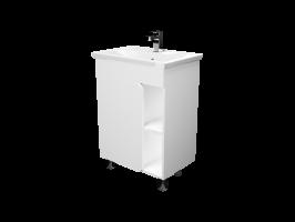Тумба Nuvo 70Н 1д. Белый глянец